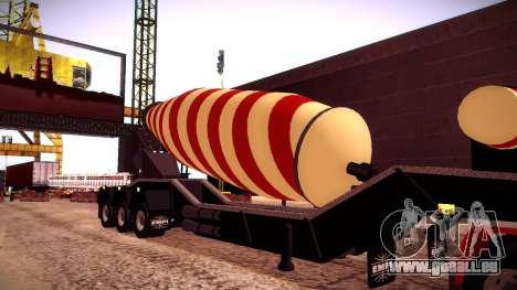Cement Mixer pour GTA San Andreas vue de droite