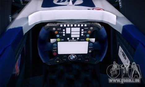 BMW Williams F1 pour GTA San Andreas vue de dessous