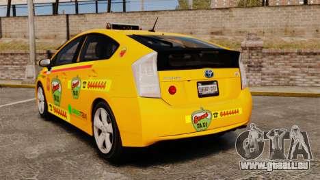 Toyota Prius 2011 Warsaw Taxi v1 für GTA 4 hinten links Ansicht