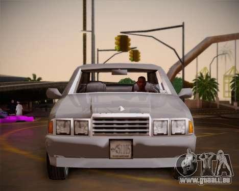 GTA III Kuruma pour GTA San Andreas vue intérieure