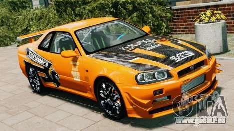 Nissan Skyline R34 GT-R NFS Underground pour GTA 4