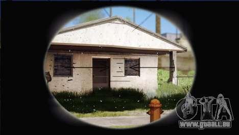 Sniper M-14 With Camouflage Grid pour GTA San Andreas cinquième écran