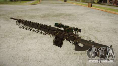 Sniper M-14 With Camouflage Grid für GTA San Andreas zweiten Screenshot
