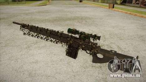 Sniper M-14 With Camouflage Grid pour GTA San Andreas deuxième écran