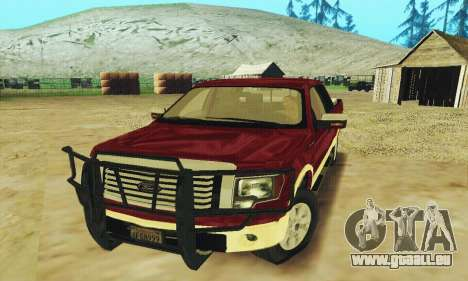 Ford F-150 KING RANCH Edition 2010 für GTA San Andreas obere Ansicht