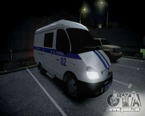 Gazelle 2705 Polizei für GTA 4 linke Ansicht