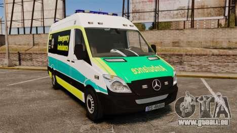 Mercedes-Benz Sprinter Australian Ambulance ELS pour GTA 4