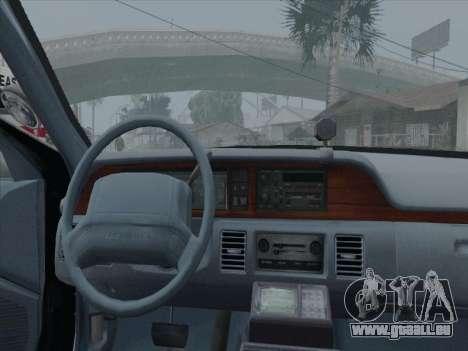 Chevrolet Caprice LVPD 1991 für GTA San Andreas zurück linke Ansicht