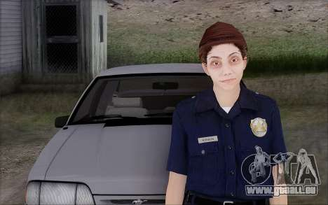 GTA 5 Police Woman für GTA San Andreas zweiten Screenshot