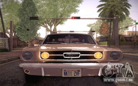 Ford Mustang GT 289 Hardtop Coupe 1965 für GTA San Andreas Seitenansicht