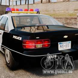 Chevrolet Caprice Police 1991 v2.0 LCPD pour GTA 4 Vue arrière de la gauche