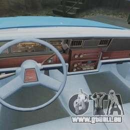 Chevrolet Caprice 1987 NYPD pour GTA 4 Vue arrière