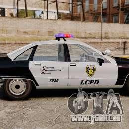 Chevrolet Caprice Police 1991 v2.0 LCPD pour GTA 4 est une gauche