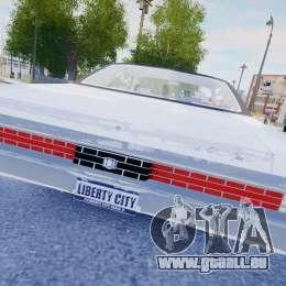 Chrysler New Yorker 1971 für GTA 4 obere Ansicht