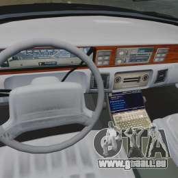 Chevrolet Caprice Police 1991 v2.0 LCPD pour GTA 4 est un côté