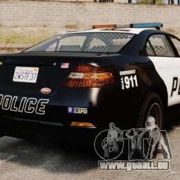 GTA V Vapid Police Interceptor für GTA 4 hinten links Ansicht