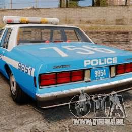 Chevrolet Caprice 1987 NYPD pour GTA 4 Vue arrière de la gauche