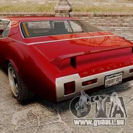 Hardtop Stallion IV pour GTA 4 Vue arrière de la gauche