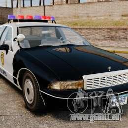 Chevrolet Caprice Police 1991 v2.0 LCPD pour GTA 4