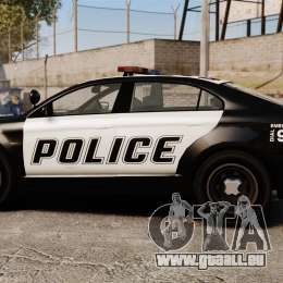 GTA V Vapid Police Interceptor für GTA 4 linke Ansicht