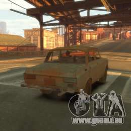 AZLK 2140 s. t. a. l. k. e. R pour GTA 4 est une vue de l'intérieur