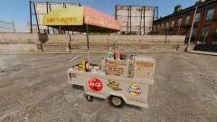 Nouvelles textures de charrettes de Hot-Dog
