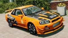 Nissan Skyline R34 GT-R NFS Underground für GTA 4