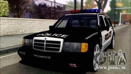 Mercedes-Benz 190E Evolution Police pour GTA San Andreas