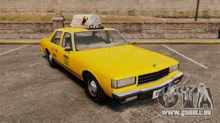 Chevrolet Caprice 1987 L.C.C. Taxi für GTA 4