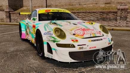 Porsche GT3 RSR 2008 Hatsune Miku pour GTA 4