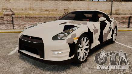 Nissan GT-R Black Edition 2012 Ski Slope Camo für GTA 4