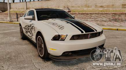 Ford Mustang 2012 Boss 302 Fiery Horse pour GTA 4