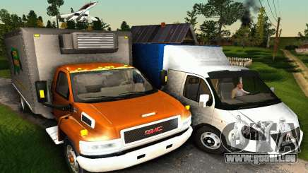GMC Top Kick C4500 Dryvan House Movers 2008 pour GTA San Andreas