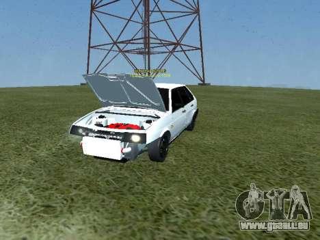 VAZ 2109 Opera Turbo pour GTA San Andreas sur la vue arrière gauche