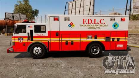 Hazmat Truck FDLC [ELS] für GTA 4 linke Ansicht