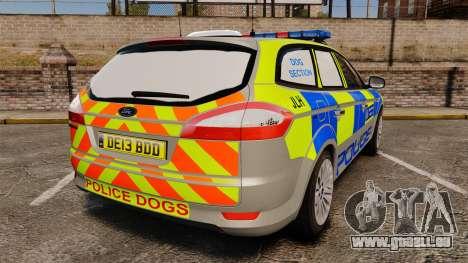 Ford Mondeo Metropolitan Police [ELS] für GTA 4 hinten links Ansicht