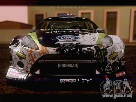 Ford Fiesta RS WRC 2013 für GTA San Andreas zurück linke Ansicht
