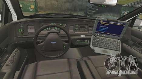 Ford Crown Victoria 1999 LAPD & GTA V LSPD pour GTA 4 Vue arrière