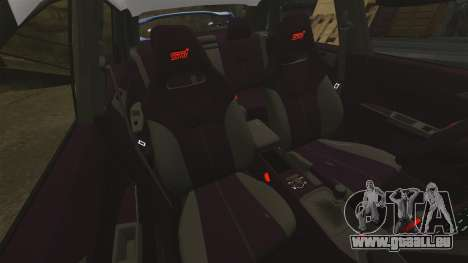 Subaru Impreza WRX STI 2011 Police [ELS] pour GTA 4 vue de dessus