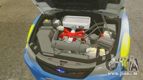 Subaru Impreza WRX STI 2011 Police [ELS] pour GTA 4 est une vue de l'intérieur