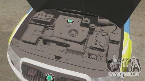 Skoda Superb 2006 Police [ELS] Whelen Edge pour GTA 4 est une vue de l'intérieur