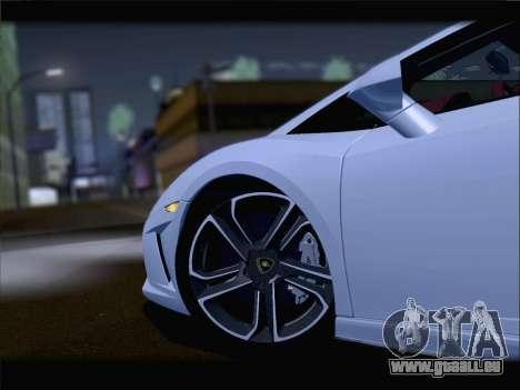 Lamborghini Gallardo 2013 pour GTA San Andreas vue intérieure