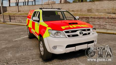 Toyota Hilux British Rapid Fire Cover [ELS] pour GTA 4
