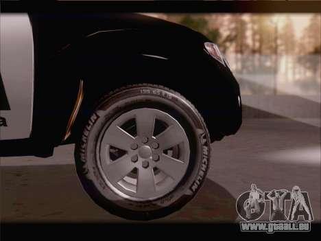 Mitsubishi L200 POLICIA pour GTA San Andreas vue intérieure