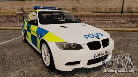 BMW M3 British Police [ELS] für GTA 4
