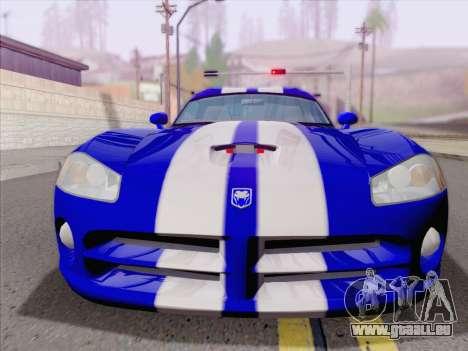 Dodge Viper SRT-10 Coupe pour GTA San Andreas vue de dessous