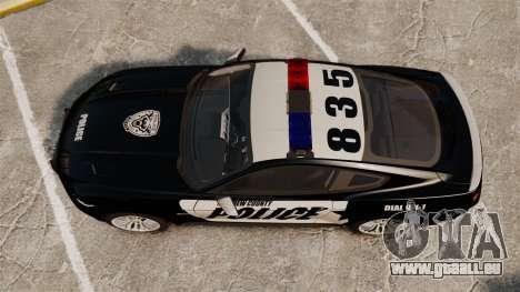 Ford Mustang GT 2015 Police pour GTA 4 est un droit