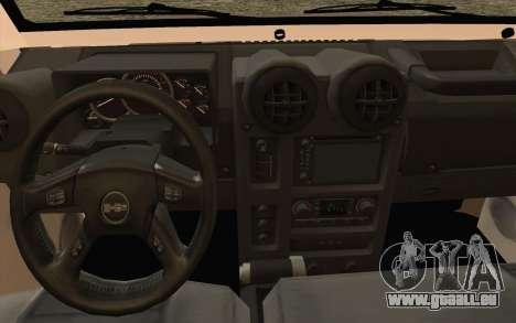 Toyota Fj70 2007 Pick Up pour GTA San Andreas vue de droite