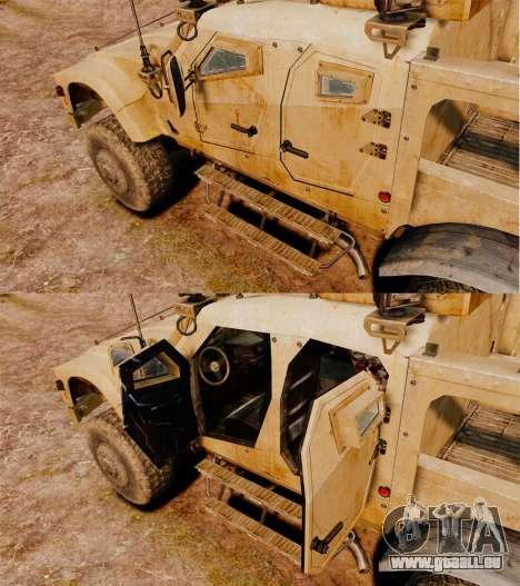 Oshkosh M-ATV pour GTA 4 est une vue de l'intérieur