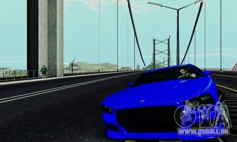 Buffalo de GTA V pour GTA San Andreas vue intérieure